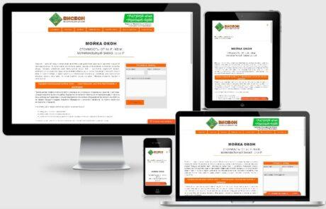 Сайт для клининговой компании ВИСБОН